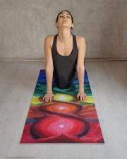Chakra Hemp Yoga Mat 24x70 (vertical) aos-yoga-mat-lifestyle-17