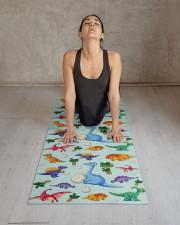Colorful Cute Dinosaur Pattern Yoga Mat Yoga Mat 24x70 (vertical) aos-yoga-mat-lifestyle-17