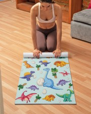 Colorful Cute Dinosaur Pattern Yoga Mat Yoga Mat 24x70 (vertical) aos-yoga-mat-lifestyle-21
