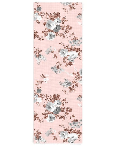 Modern blush pink white rose gold glitter floral
