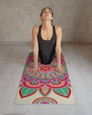 Boho Hippie Mandala Yoga Mat 24x70 (vertical) aos-yoga-mat-lifestyle-17