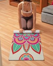 Boho Hippie Mandala Yoga Mat 24x70 (vertical) aos-yoga-mat-lifestyle-21