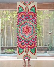 Boho Hippie Mandala Yoga Mat 24x70 (vertical) aos-yoga-mat-lifestyle-27
