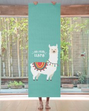 Monogram Cute Funny Alpaca No Prob Llama Yoga Mat 24x70 (vertical) aos-yoga-mat-lifestyle-27