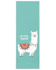 Monogram Cute Funny Alpaca No Prob Llama Yoga Mat 24x70 (vertical) front