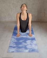 Heart Shaped Cloud Lovely Blue Template Elegant Yoga Mat 24x70 (vertical) aos-yoga-mat-lifestyle-17