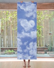 Heart Shaped Cloud Lovely Blue Template Elegant Yoga Mat 24x70 (vertical) aos-yoga-mat-lifestyle-27