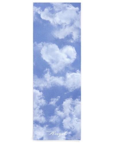 Heart Shaped Cloud Lovely Blue Template Elegant