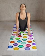 Many Colorful Circles Yoga Mat 24x70 (vertical) aos-yoga-mat-lifestyle-17