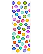 Many Colorful Circles Yoga Mat 24x70 (vertical) front