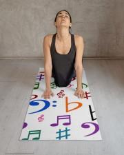 Many Colorful Music Notes and Symbols Yoga Mat Yoga Mat 24x70 (vertical) aos-yoga-mat-lifestyle-17