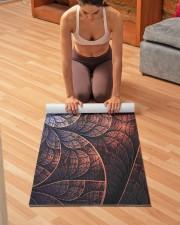 Floral Art Yoga Mat 24x70 (vertical) aos-yoga-mat-lifestyle-21