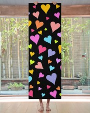 Fun Loving Colorful Hearts Pattern Yoga Mat Yoga Mat 24x70 (vertical) aos-yoga-mat-lifestyle-27
