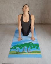 Blue Sky Palms Island Fitness Elegant Template Yoga Mat 24x70 (vertical) aos-yoga-mat-lifestyle-17
