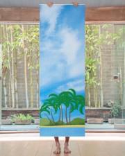 Blue Sky Palms Island Fitness Elegant Template Yoga Mat 24x70 (vertical) aos-yoga-mat-lifestyle-27