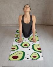 Cute Avocado Cartoon Yoga Mat Yoga Mat 24x70 (vertical) aos-yoga-mat-lifestyle-17