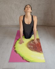 Avocado Illustration Yoga Mat 24x70 (vertical) aos-yoga-mat-lifestyle-17