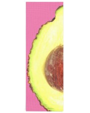 Avocado Illustration Yoga Mat 24x70 (vertical) front