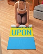 Funny Quote Turquoise Yoga Mat Yoga Mat 24x70 (vertical) aos-yoga-mat-lifestyle-21