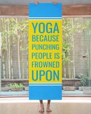 Funny Quote Turquoise Yoga Mat Yoga Mat 24x70 (vertical) aos-yoga-mat-lifestyle-27