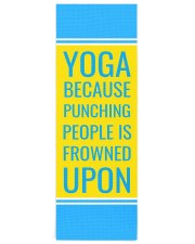 Funny Quote Turquoise Yoga Mat Yoga Mat 24x70 (vertical) front