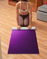 Purple Points Yoga Mat Yoga Mat 24x70 (vertical) aos-yoga-mat-lifestyle-21