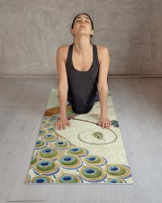 Beautiful Peacock Yoga Mat 24x70 (vertical) aos-yoga-mat-lifestyle-17