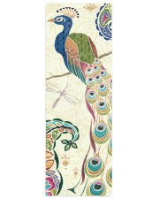 Majestic Blue Peacock Yoga Mat 24x70 (vertical) front