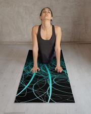 Linear Abstract2 Blue Yoga Mat 24x70 (vertical) aos-yoga-mat-lifestyle-17