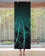 Linear Abstract2 Blue Yoga Mat 24x70 (vertical) aos-yoga-mat-lifestyle-27