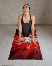 Dark Red Spiral Yoga Mat 24x70 (vertical) aos-yoga-mat-lifestyle-17