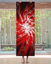 Dark Red Spiral Yoga Mat 24x70 (vertical) aos-yoga-mat-lifestyle-27