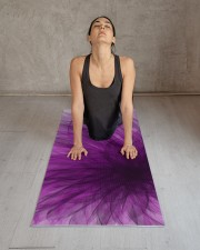 Lavender Spiral Yoga Mat Yoga Mat 24x70 (vertical) aos-yoga-mat-lifestyle-17
