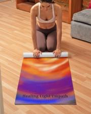 Colorful creative boho soul flame yoga mat Yoga Mat 24x70 (vertical) aos-yoga-mat-lifestyle-21