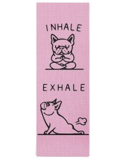 Yoga Frenchie Yoga Mat 24x70 (vertical) front