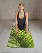 Green Tropical Palm Leaves Illustration Yoga Mat Yoga Mat 24x70 (vertical) aos-yoga-mat-lifestyle-17
