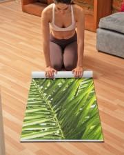 Green Tropical Palm Leaves Illustration Yoga Mat Yoga Mat 24x70 (vertical) aos-yoga-mat-lifestyle-21