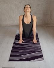 Purple Spiral Pattern Yoga Mat 24x70 (vertical) aos-yoga-mat-lifestyle-17