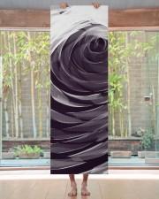Purple Spiral Pattern Yoga Mat 24x70 (vertical) aos-yoga-mat-lifestyle-27
