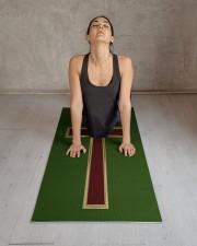 Christian cross Yoga Mat 24x70 (vertical) aos-yoga-mat-lifestyle-17