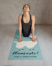 Llamaste funny Green Llama Illustration Yoga Mat 24x70 (vertical) aos-yoga-mat-lifestyle-17
