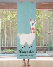 Llamaste funny Green Llama Illustration Yoga Mat 24x70 (vertical) aos-yoga-mat-lifestyle-27