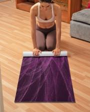 Lavender Spiral3 Yoga Mat Yoga Mat 24x70 (vertical) aos-yoga-mat-lifestyle-21