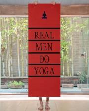 Real men do yoga Yoga Mat 24x70 (vertical) aos-yoga-mat-lifestyle-27