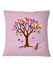 Tree of paws Square Pillowcase back