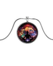 Pratique Reiki Metallic Circle Necklace thumbnail