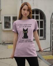 Cute Cat Classic T-Shirt apparel-classic-tshirt-lifestyle-19
