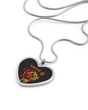 Pitbull Rescue Necklace Metallic Heart Necklace aos-necklace-heart-metallic-lifestyle-05