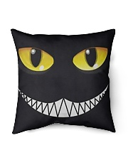 "Evil Cat Smile Indoor Pillow - 18"" x 18"" thumbnail"