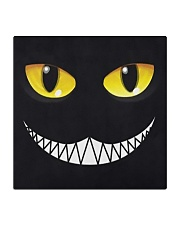 Evil Cat Smile Square Coaster thumbnail